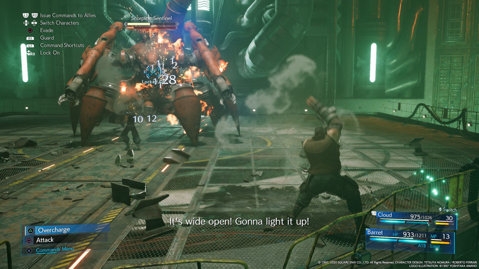 Final Fantasy VII Remake - screenshot z wersji na PlayStation 4
