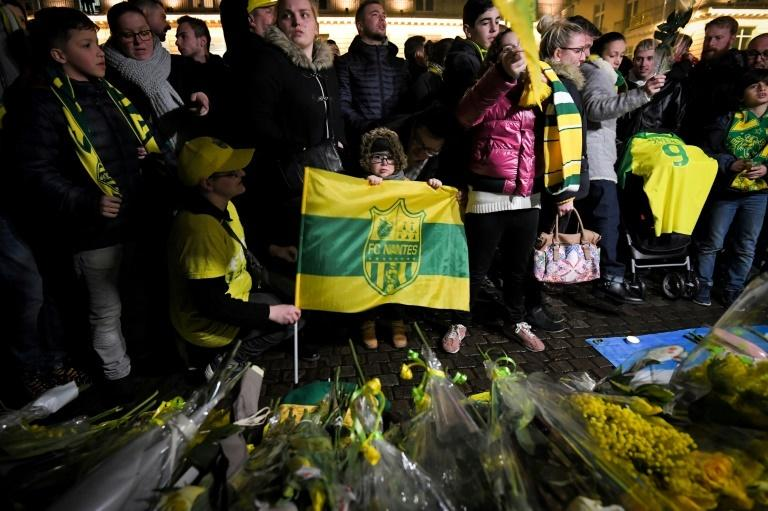 Nantes fans held a vigil in the French city in support of Sala on Tuesday