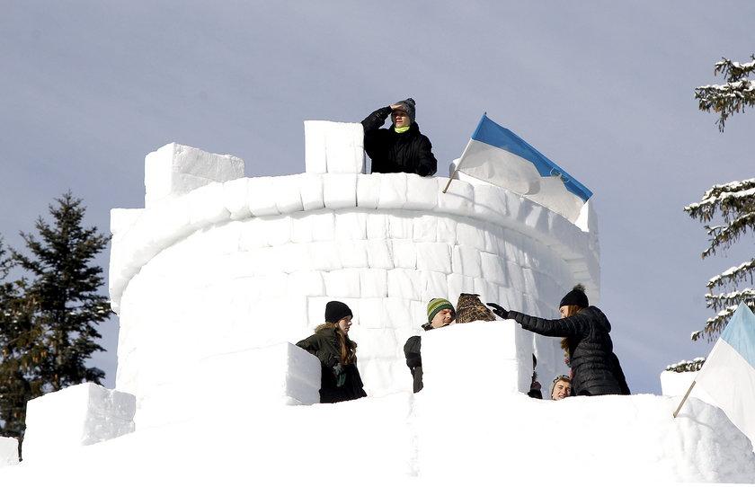 Śnieżna wieża