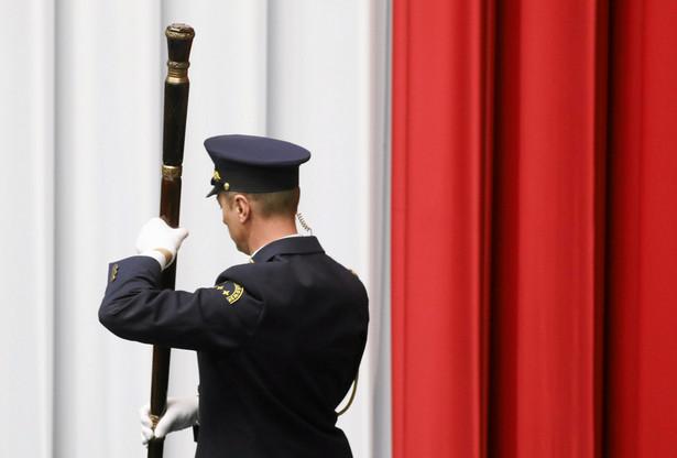 Strażnik Marszłkowski podczas otwarcia obrad Sejmu