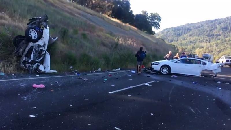 Wypadek na kalifornijskiej autostradzie