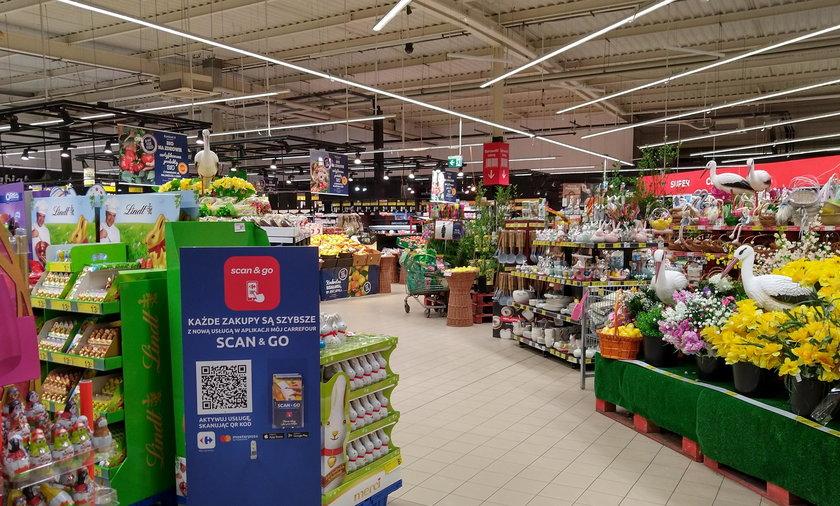 nicne zakupy w supermarkecie