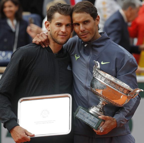Rafael Nadal, pobednik Rolan Garosa, i  Dominik Tim, finalista istog turnira