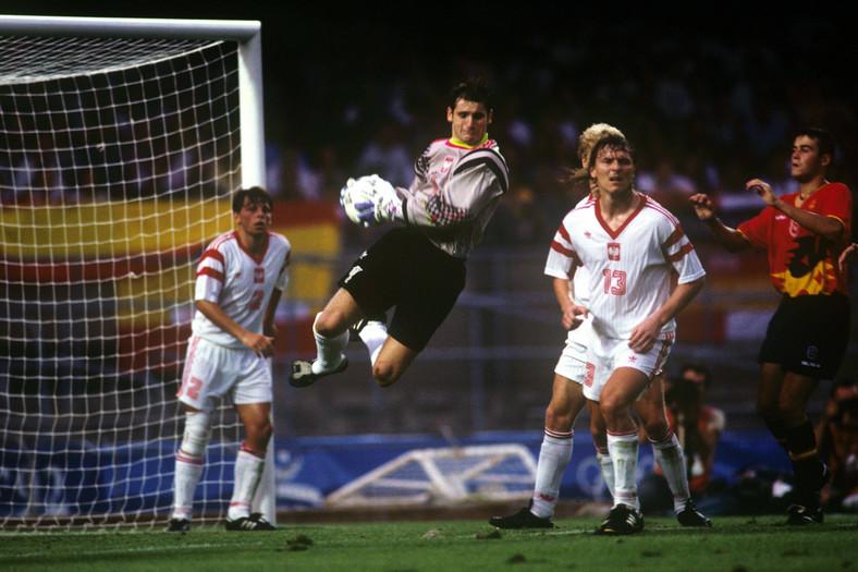 Aleksander Kłak w finale IO 1992 z Hiszpanią
