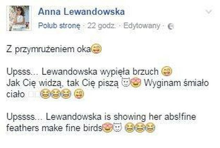 Anna Lewandowska komentuje doniesienia o ciąży