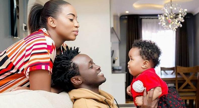 Diana Marua with her Family. Bahati and Heaven