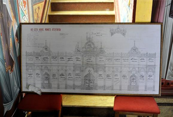 Plan manastira kod Bijeljine
