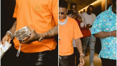 Wizkid took his friends to dinner and spent N3.6M
