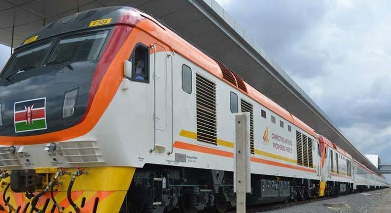 SGR train before leaving a terminus