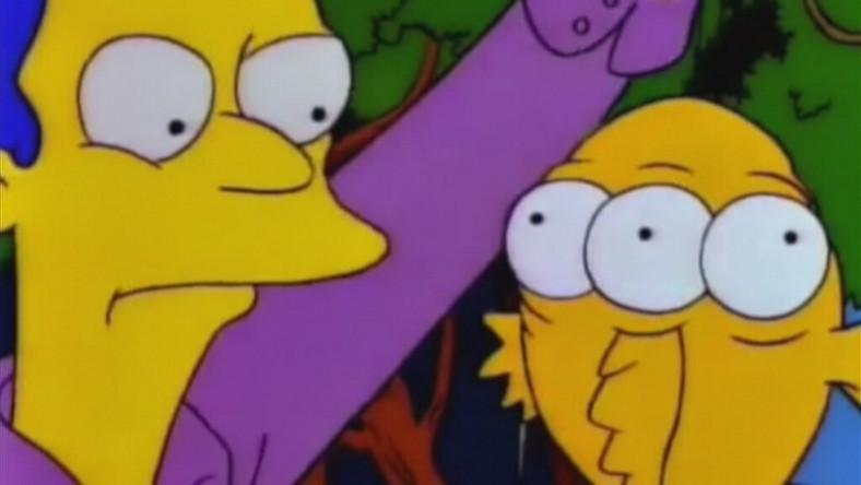"Screen z kreskówki ""Simpsonowie"" - trójoka ryba"