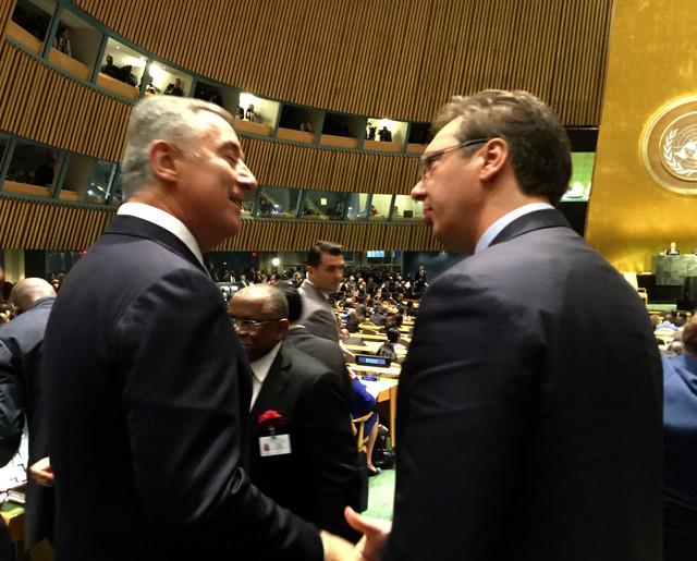 Aleksandar Vučić i Milo Đukanović