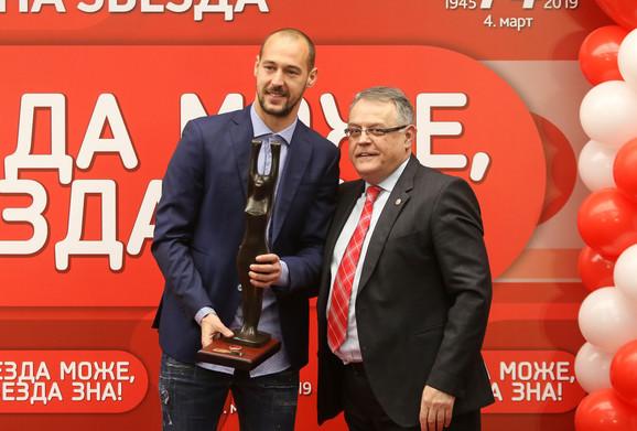 Milan Borjan u društvu predsednika Sportskog društva Crvena zvezda Nebojše Čovića