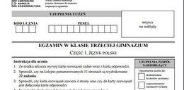 Egzamin gimnazjalny 2017: polski - arkusz pytań i odpowiedzi