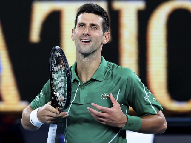 Novak Đoković proslavlja plasman u drugo kolo Australijan opena