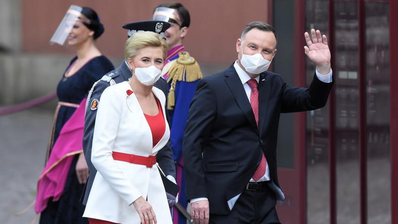 Prezydent RP Andrzej Duda z małżonką Agatą Kornhauser-Dudą