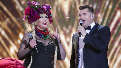 Maryla Rodowicz i Zenon Martyniuk podczas sylwestra TVP2 w Zakopanem