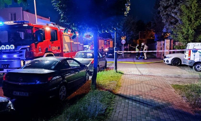 Pożar przyczepy kempingowej we Władysławowie.