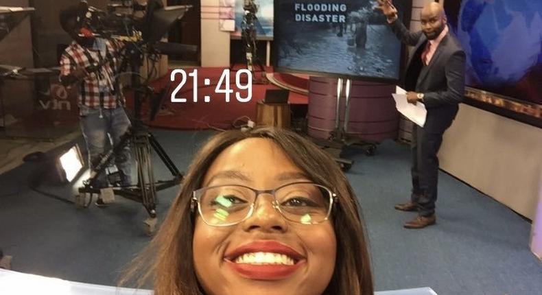 Anita Nkonge at NTV studio