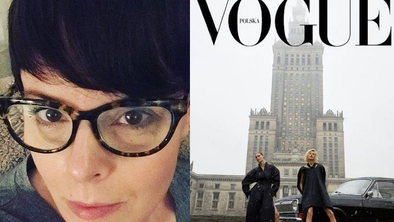"""Karolina Korwin Piotrowska, okładka polskiego """"Vogue"""""""