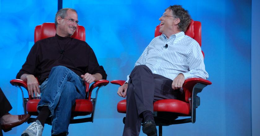 Steve Jobs i Bill Gates, 2007 r.