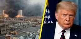 Eksplozja w Bejrucie. Trump mówi o ataku i bombie