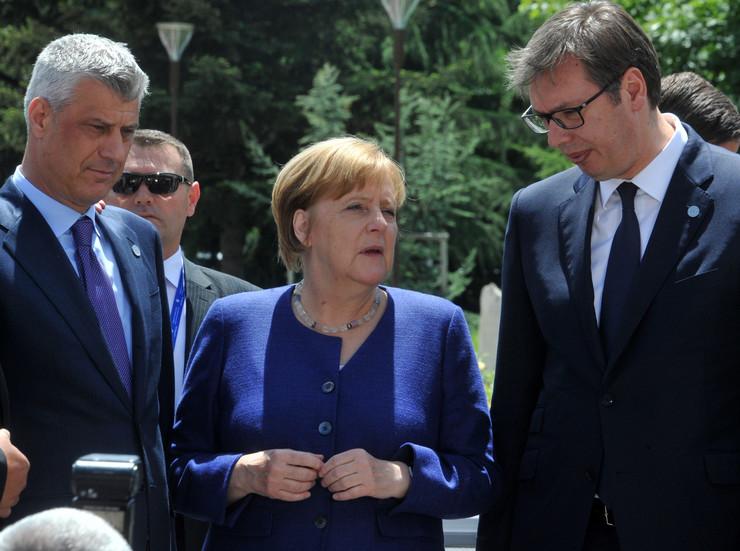 Merkel, Vučić, Tači