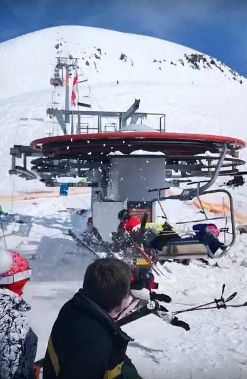 Wypadek na wyciągu narciarskim
