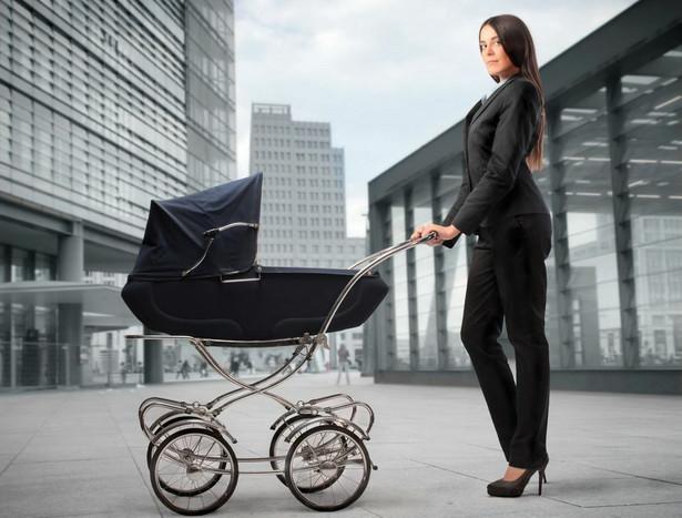 Bizneswoman z dzieckiem