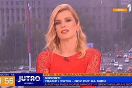 CRVENA ČIPKA I MINIĆ Nataša Miljković vodila emisiju u kratkoj haljini, svi gledali u njene SEKSI NOGE