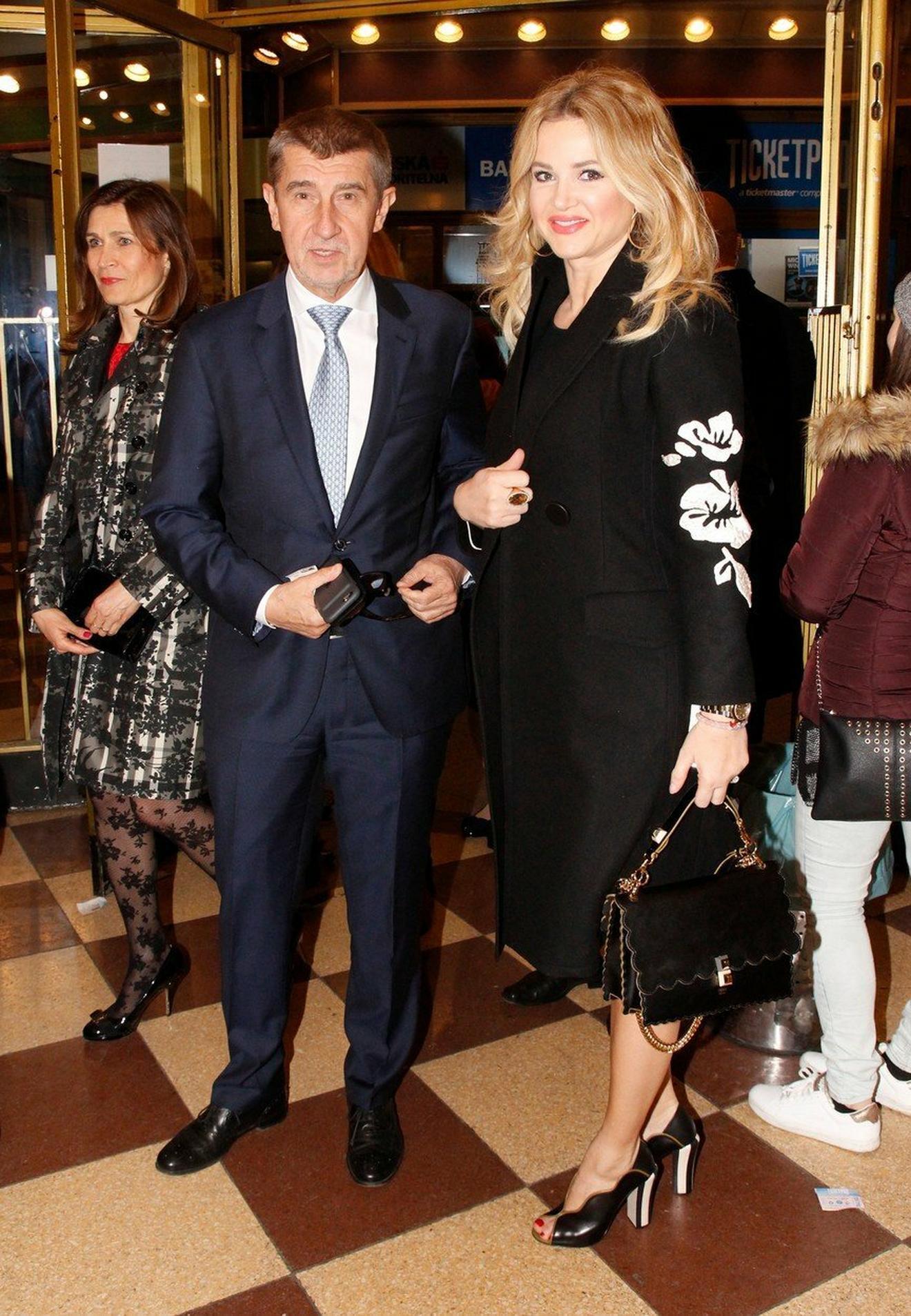 Andrej Babišov sa suprugom Monikom