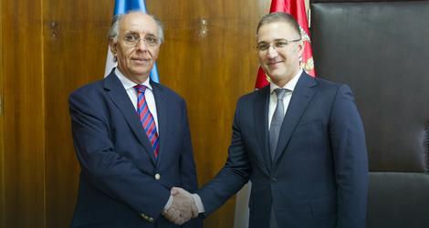 Stefanović i ambasador Argentine Rikardo Fernando Fernandes