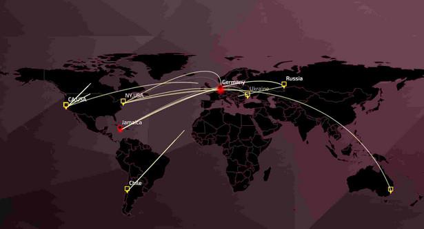 Kierunki cyberataków na świecie, źródło: Check Point