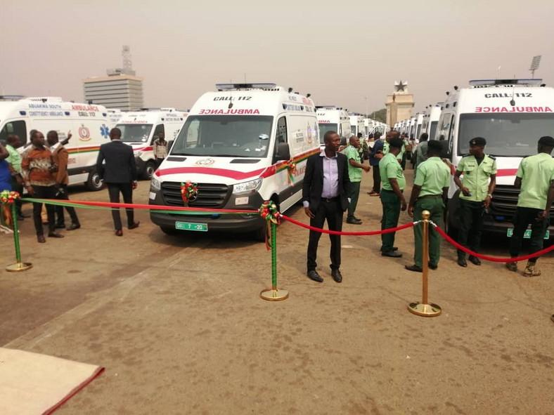 President Akufo-Addo has commissioned 307 ambulances