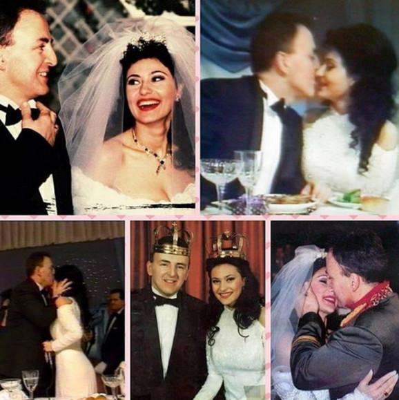PRVI SU OTIŠLI SA SVOJE SVADBE: 25 godina od venčanja Cece i Arkana, a o  ovome se još priča - torta od 70 KG, zlatni dukat i POLA MILIONA maraka