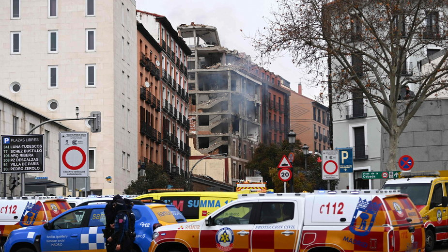 Miejsce eksplozji w Madrycie