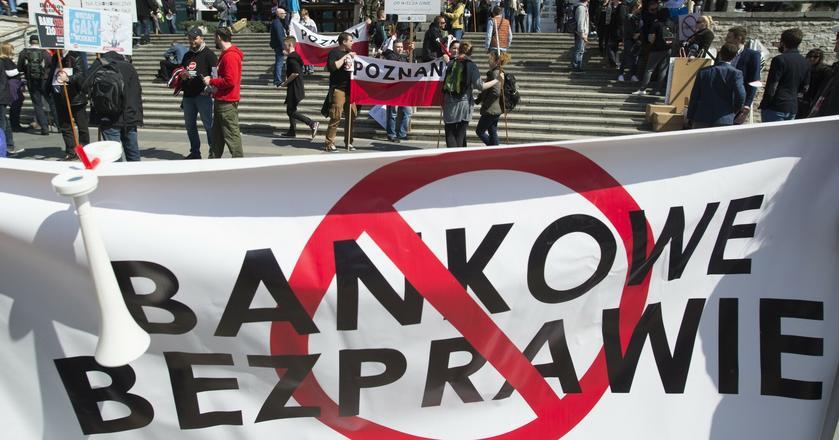 """Manifestacja """"Stop Bankowemu Bezprawiu"""", czyli protest tzw. frankowiczów"""