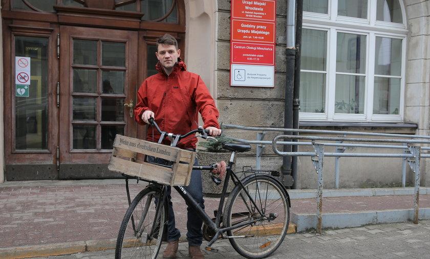 Daniel Chojnacki oficer rowerowy z Wrocławia