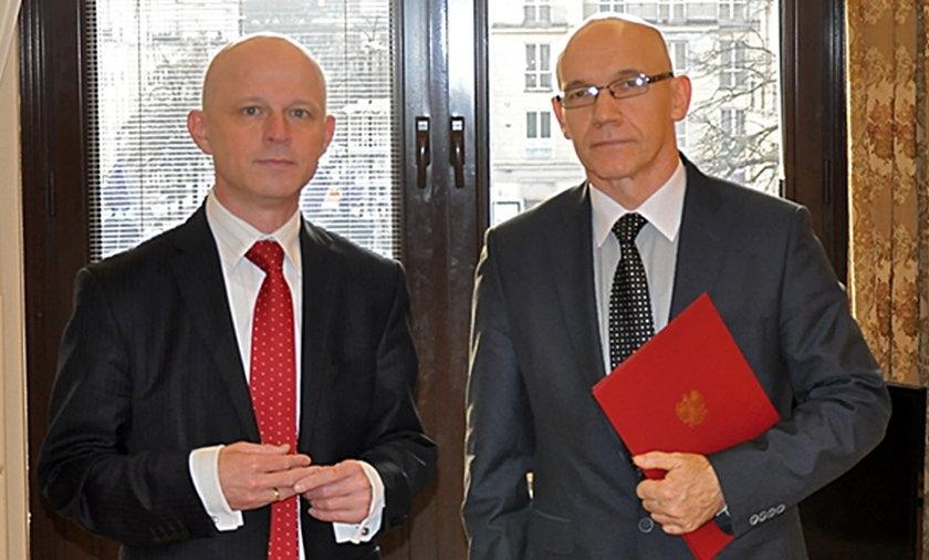 Minister finansów Paweł Szałamacha i wiceminister Wiesław Jasiński
