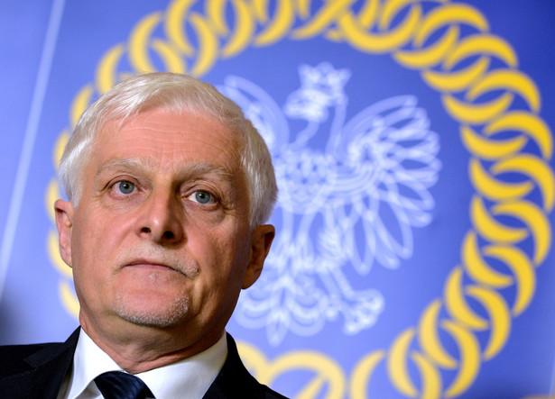 Przewodniczący Krajowej Rady Sądownictwa Dariusz Zawistowski po spotkaniu z prezydentem Andrzejem Dudą
