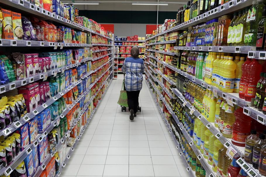 FILE PHOTO: A customer shops in a Casino supermarket in Nice