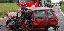 Kierowca tico ranny po zderzeniu z autobusem