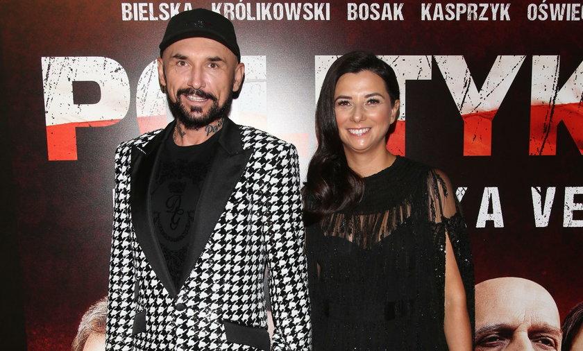 Patryk Vega z żoną