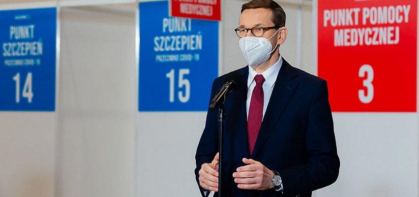 Morawiecki: Trzecia fala słabnie. W dwa miesiące albo szybciej pułap odporności