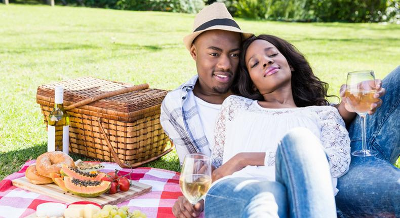 Couple on picnic(That Sister)