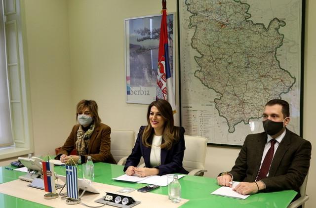 Tatjana Matić i ministar Republike Grčke za turizam Haris Teokaris