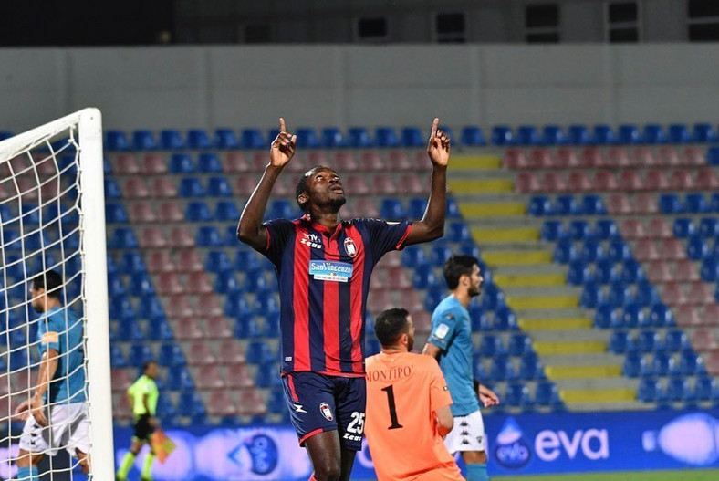 Simy Nwankwo scored three goals for his side on Friday (Instagram/Crotone)