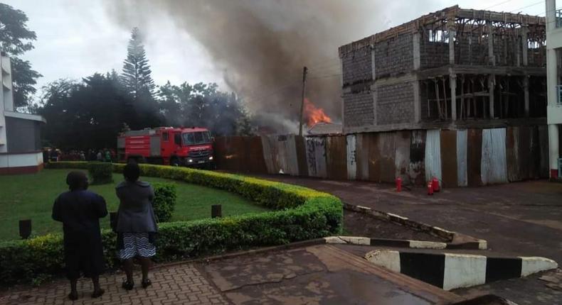 Fire breaks out at Lenana School