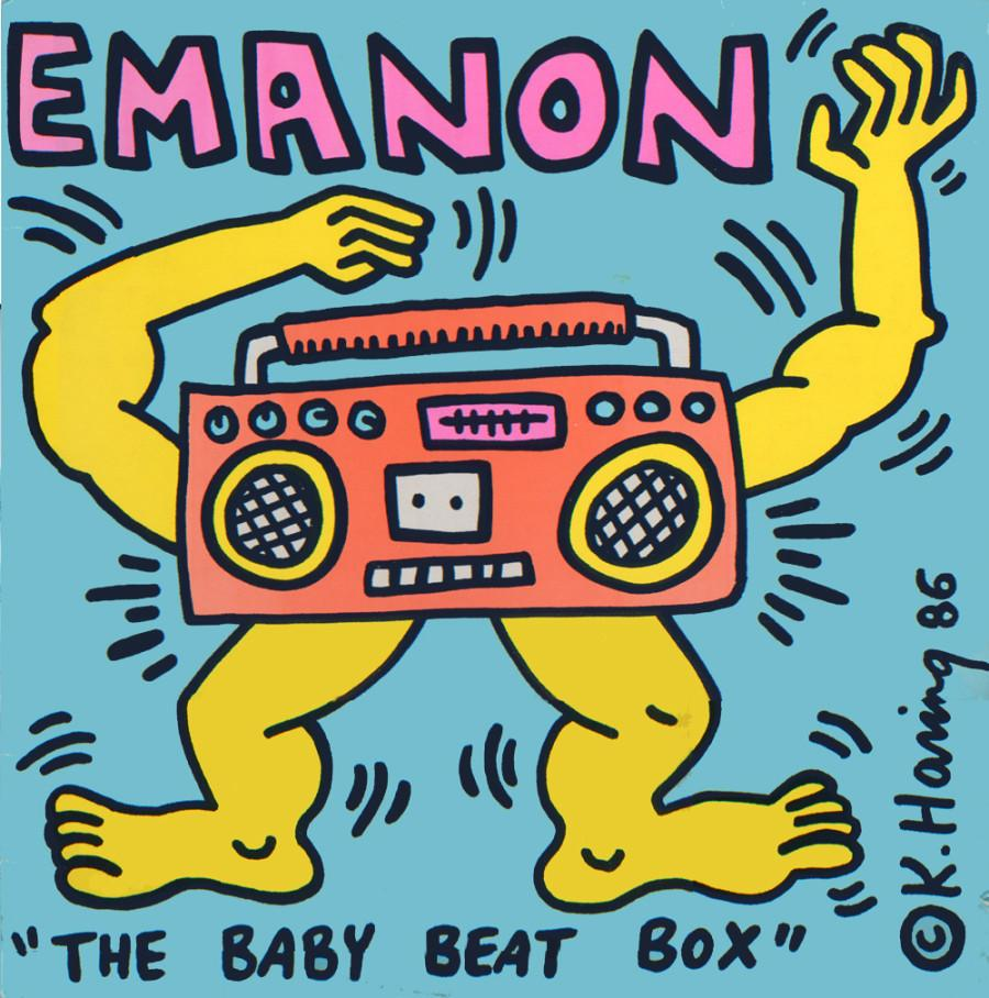 "Keith Haring dla  Emanon. Album ""The Baby Beat Box"""