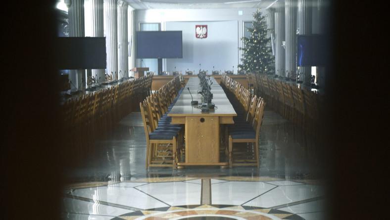 Sala kolumnowa w Sejmie