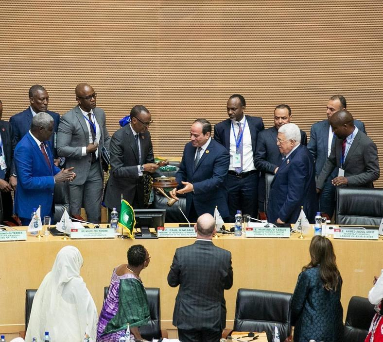 President Paul Kagame on Sunday, February 10, officially handed over the African Union Chairmanship to President Abdul Fattah Al-Sisi of Egypt
